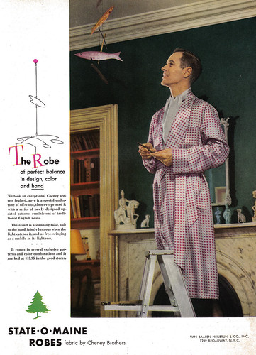 Vintage Ad #300: Man Observing Mobile of Fish