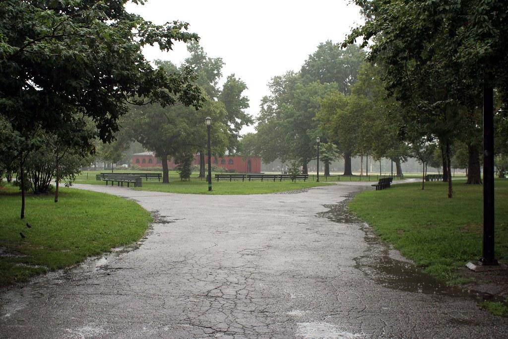 McCarren Park in the rain