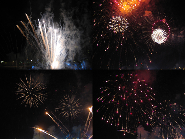 fireworks. 2