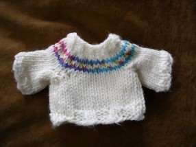 Ravelry: Teddy Bear Sweater Knit in the Round pattern by ...