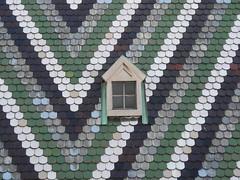 Roof of St. Stephens (PaulLamere) Tags: vienna window ismir ismir2007