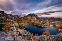 Land of Enchantment (Zack Schnepf) Tags: autumn mountain lake storm mountains fall golden washington quality alpine larch soe naturesfinest enchantments prusikpeak supershot superaplus aplusphoto flickrelite