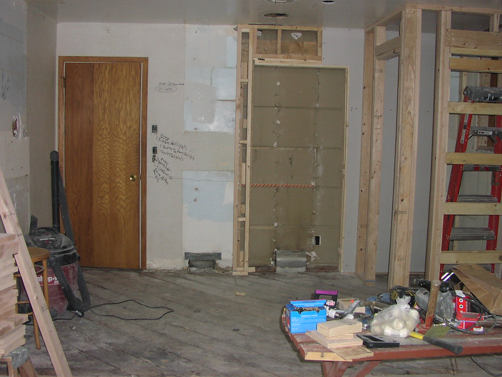 Old inner wall of kitchen, with changes