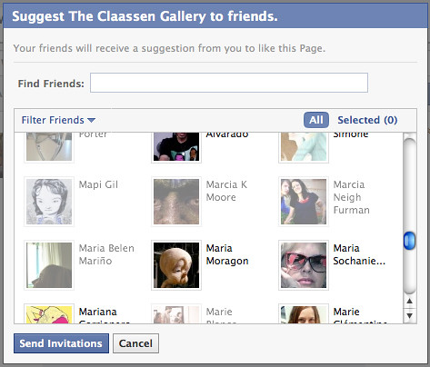 suggest friends to facebook fan pages