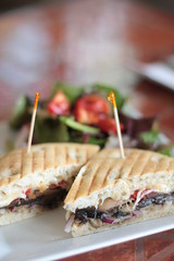Cafe Luna - mushroom and roast pepper panino