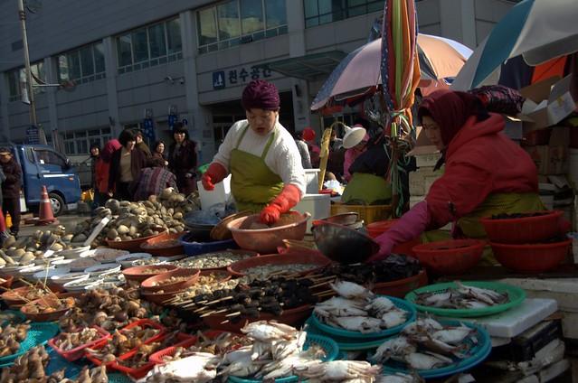 釜山 札嘎其市場