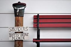 warning to smokers (Es.mond) Tags: warning bench smokers