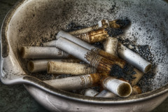 """Nicotine Stains"" (Frank C. Grace (Trig Photography)) Tags: pentax cigarette cancer dirty smoking ashes marlboro ash tray stains cigarettes addiction addict hdr nicotine k7 photomatix tonemapped"