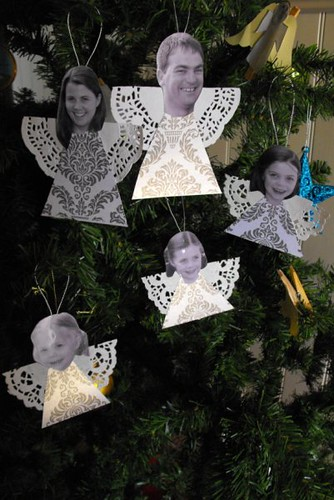 Family angel decorations