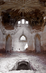 The Zakoziel Chapel Interior (lemmingby) Tags: abandoned architecture buildings travels interiors panoramas panoramic chapels trips forsaken belarus derelict brestregion otherwheres zakoziel