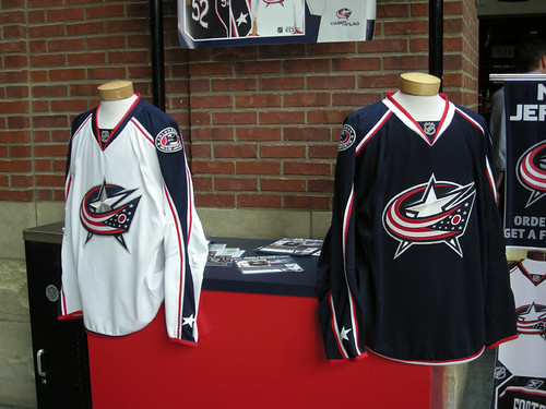 Both Jerseys on Display