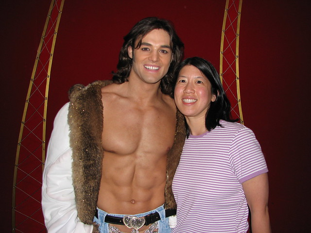 With the Cirque du Soleil stripper