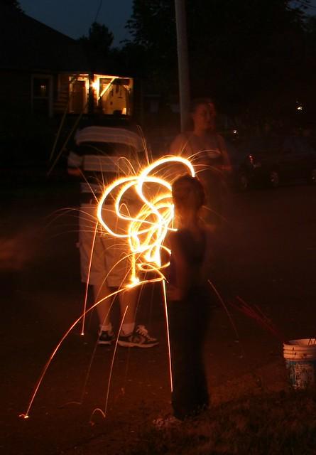 Firey Spirals