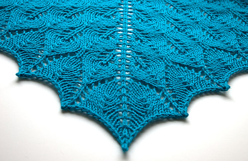 Knitted Flowers Free Patterns : Ravelry: Shetland Triangle Lace Shawl pattern by Evelyn A. Clark
