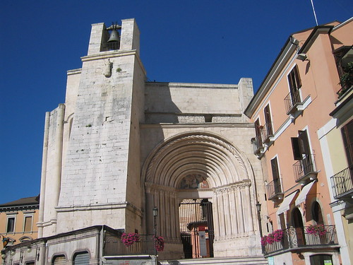 Another view in Sulmona, a rather 'Hitchcockian' architecture- strong allegory implied