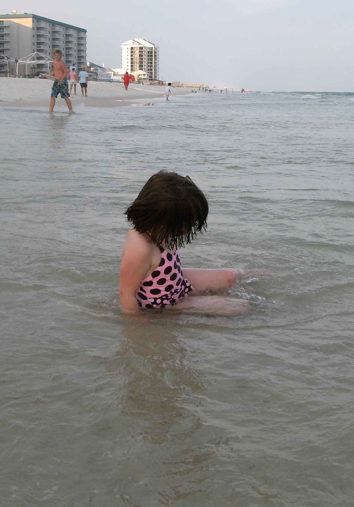 Girl takes to Water
