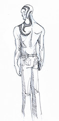 Fractal - Hell (Jugo de Naranjo) Tags: back drawing nicolas espalda fractal tatoo dibujo mithra tatuale