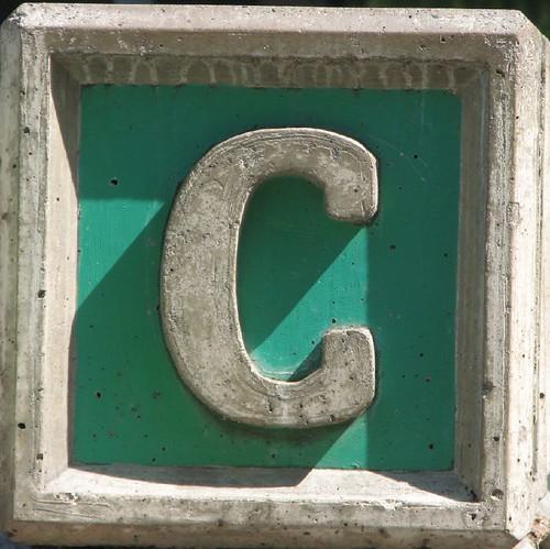 c alphabet oneletter