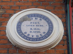 Photo of John Dryden white plaque