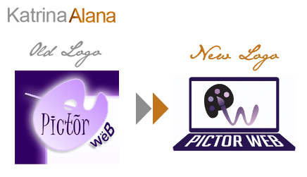 Pictor Web Logo Redesign