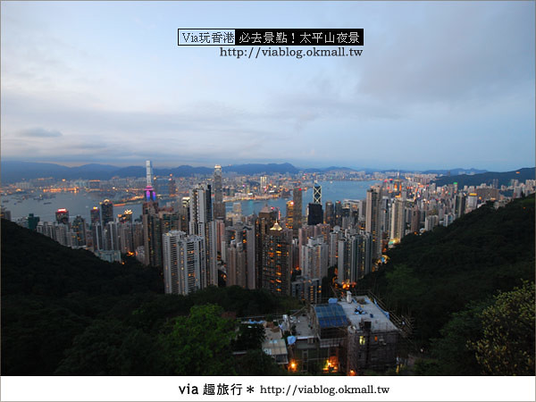 【香港自由行】必推!內有百萬夜景~香港太平山夜景24