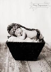 peaceful (Jacqueline Childress Tiny Impressions Photography) Tags: bucket newborn barnwood elfhat