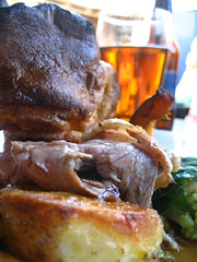 Roast beef, yorkshire pud and a pint