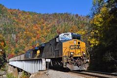 CSX in Fall (esywlkr) Tags: railroad autumn fall train nc northcarolina csx freighttrain wnc westernnorthcarolina clinchfield