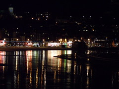 South Bay reflect (Nekoglyph) Tags: beach wet water night reflections lights seaside sand bright yorkshire scarborough seafront southbay amusements