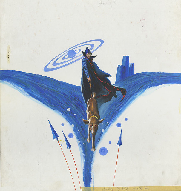 "Jack Gaughan - ""Moon of the Three Rings"" Paperback Cover (Ace, 1966)"