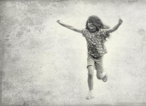 フリー写真素材, 人物, 子供, 少女・女の子, モノクロ写真,