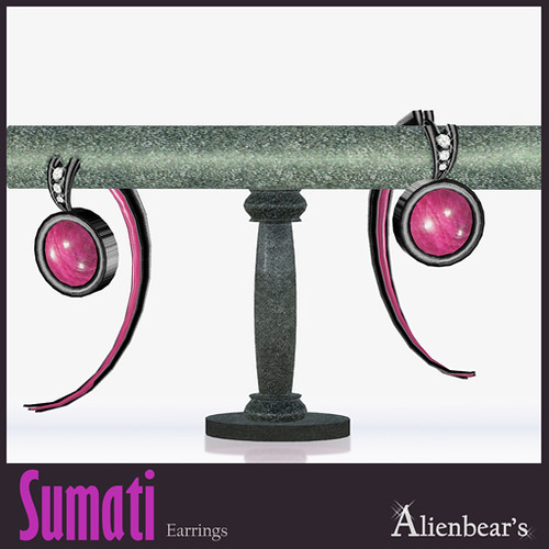 Sumati dark earrings pink