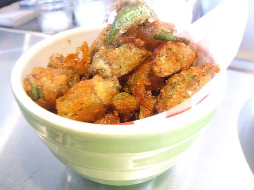 Fried okra & shishito