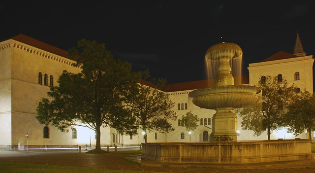 LMU Munich at Night