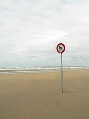 No go area (Yolande...) Tags: dog holland beach strand explore 173 ijmuiden hondenverbodsbord