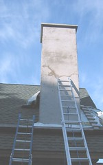 Skim Coat on Chimney