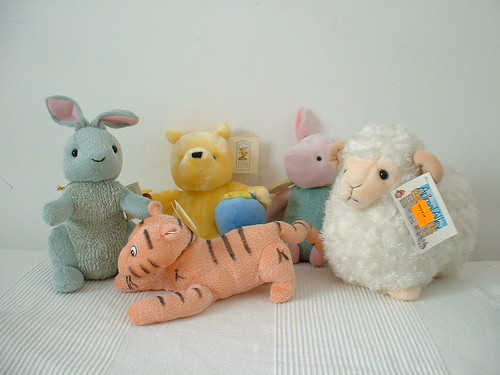 Winnie the Pooh toys with Sheepie