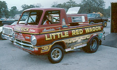 Little Red Wagon (twm1340) Tags: truck golden exhibition explore hemi wheelie maverick 426 littleredwagon ahra wheelstander