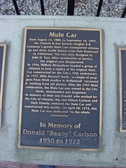 The Mule Car is dedicated to the Inland Empire
