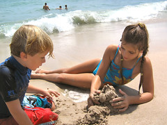 Relaxing on a beach (antonina1999) Tags: ocean beach kids fun florida   10000views
