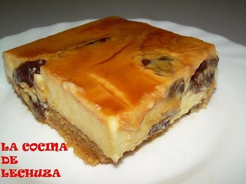 Tarta cuajada y queso porción cerca