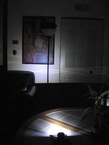 Luminosity of Petzl Zipka LED headlamp