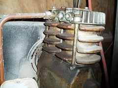 old air compressor still working used for sandblasting