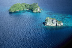 PALAU (BoazImages) Tags: ocean above blue holiday beach nature water topv111 airplane landscape paradise pacific exotic jungle tropical soe palau rockisland aplusphoto boazimages