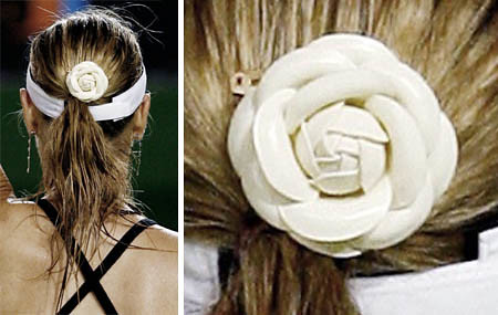maria sharapova nike australian open 2007 ponytail