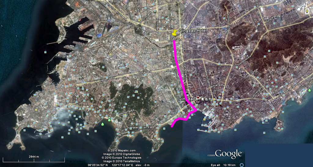 Qingdao Holiday Map - Day 5