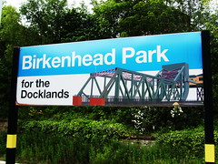 Birkenhead Park for the Docklands (The Messenger Boy) Tags: signs birkenhead wirral merseyrail railwaystationsigns merseyrailsigns