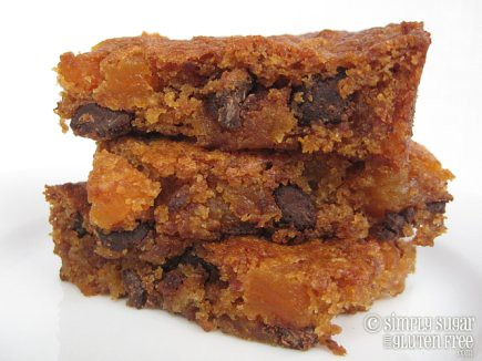 Dairy-Free Apricot Carob Blondies