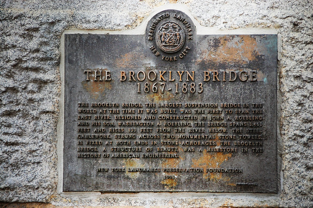 Brooklyn Bridge  West Pillar by lucas_roberts426