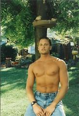 jeans (SLA92-02) Tags: shirtless pecs nipples jeans